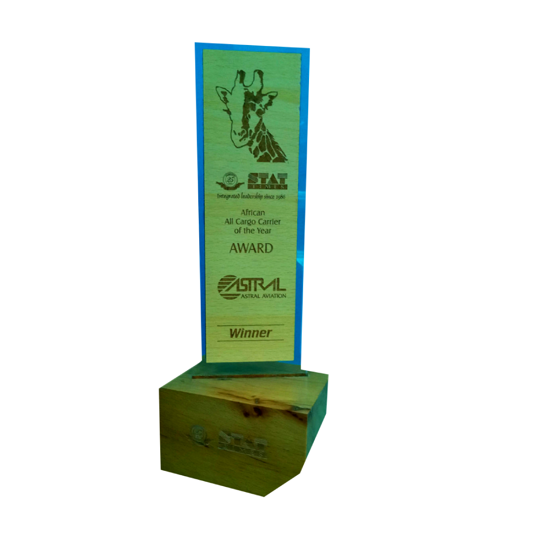 Winner Africa All Cargo Carrier of the year 2013