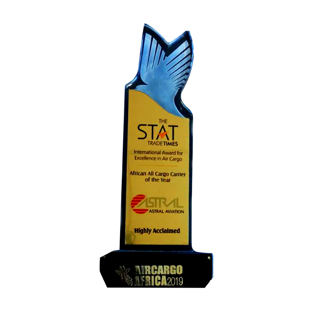 Winner Africa All Cargo Carrier of the year 2019